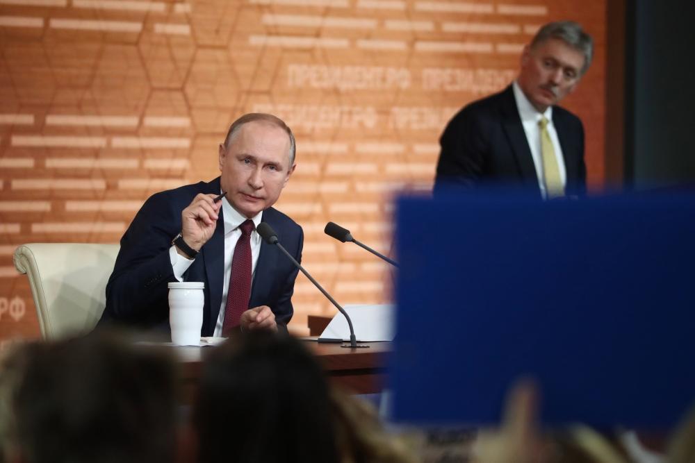 Песков допустил, что Путин проголосует по поправкам к конституции онлайн