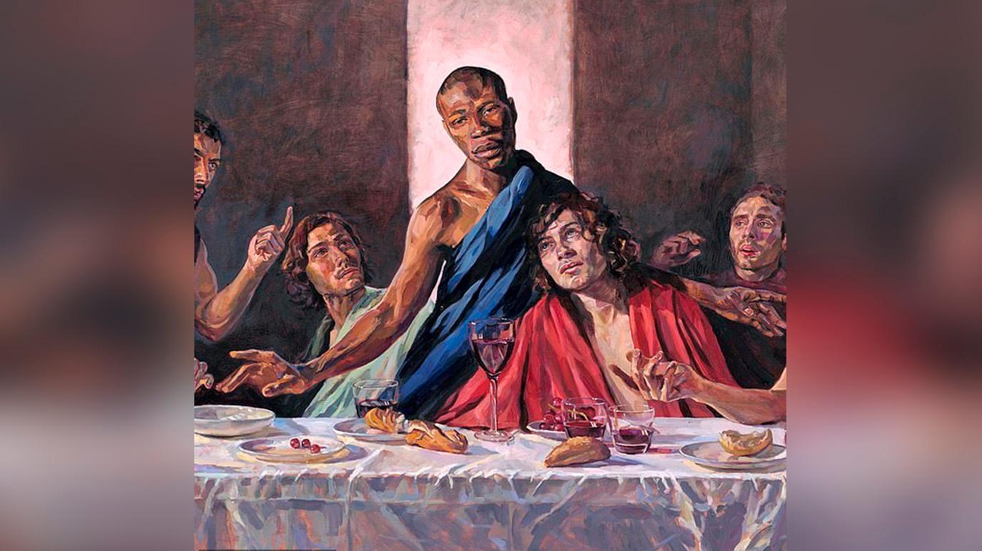 В британском соборе установили картину с темнокожим Иисусом