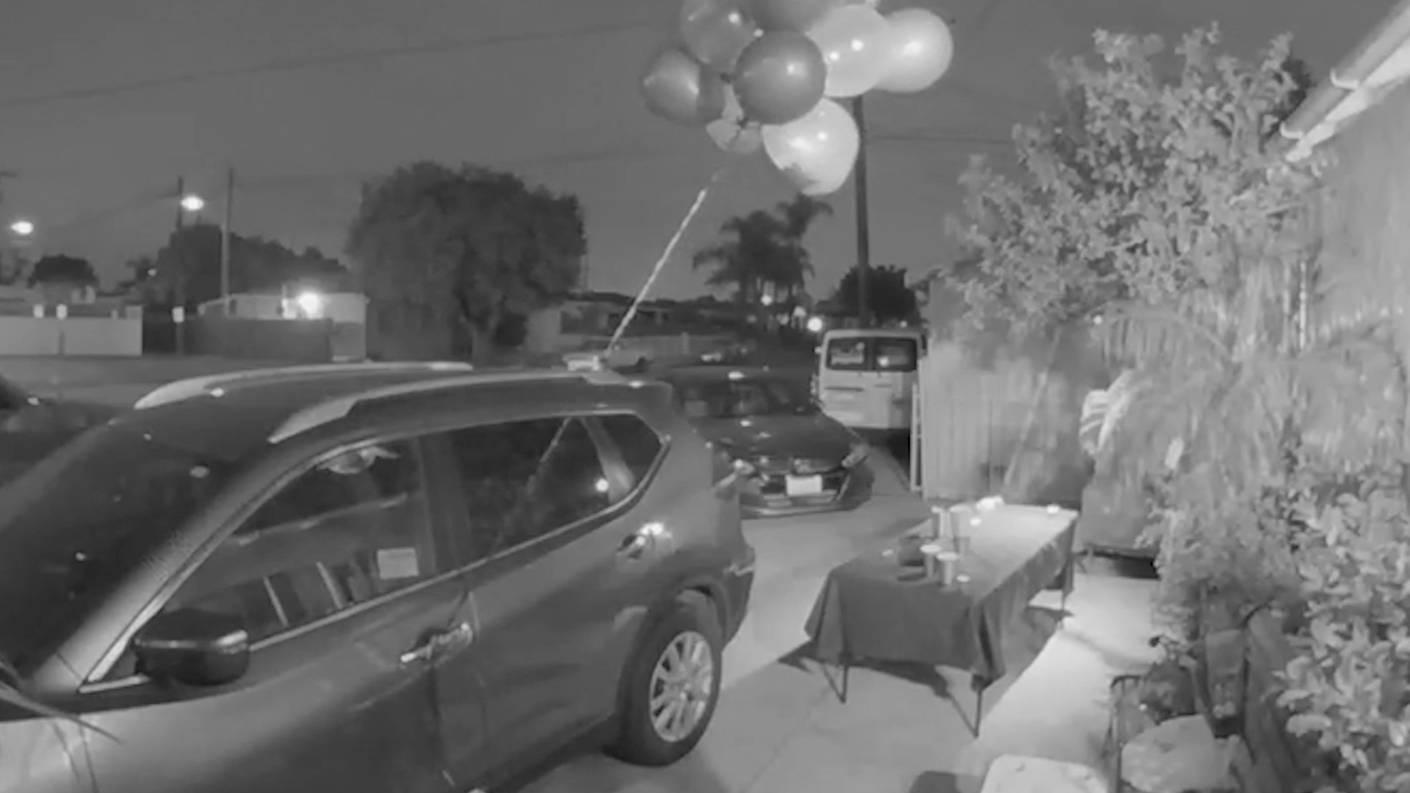 У пары исчезли праздничные шары, и камера наблюдения раскрыла, что предатель прячется среди своих