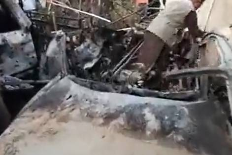 Появилось видео с последствиями взрыва в Кабуле